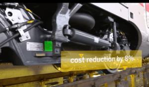 Trenitalia, an Italian train company, looks to reduce maintenance costs by 8 percent.